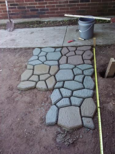 Concrete Pavers Home Garden Ebay Cement Pavers Floor Molding Paver Molds