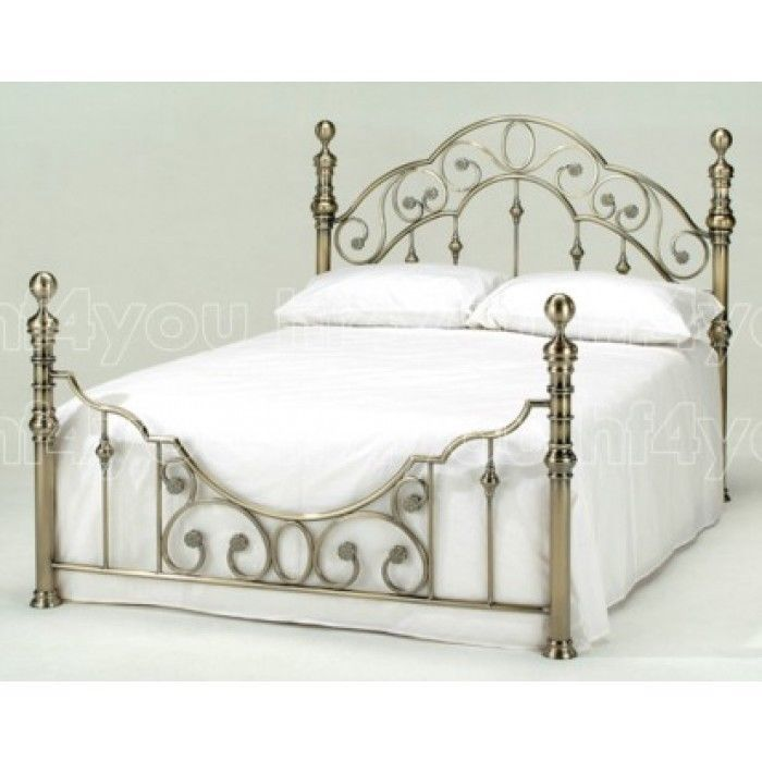 Details About Harmony Beds Florence Antique Brass Metal Bed Frame Mattress 4ft6 Double 5ftking In 2020 French Style Bed Bed Frame Brass Bed