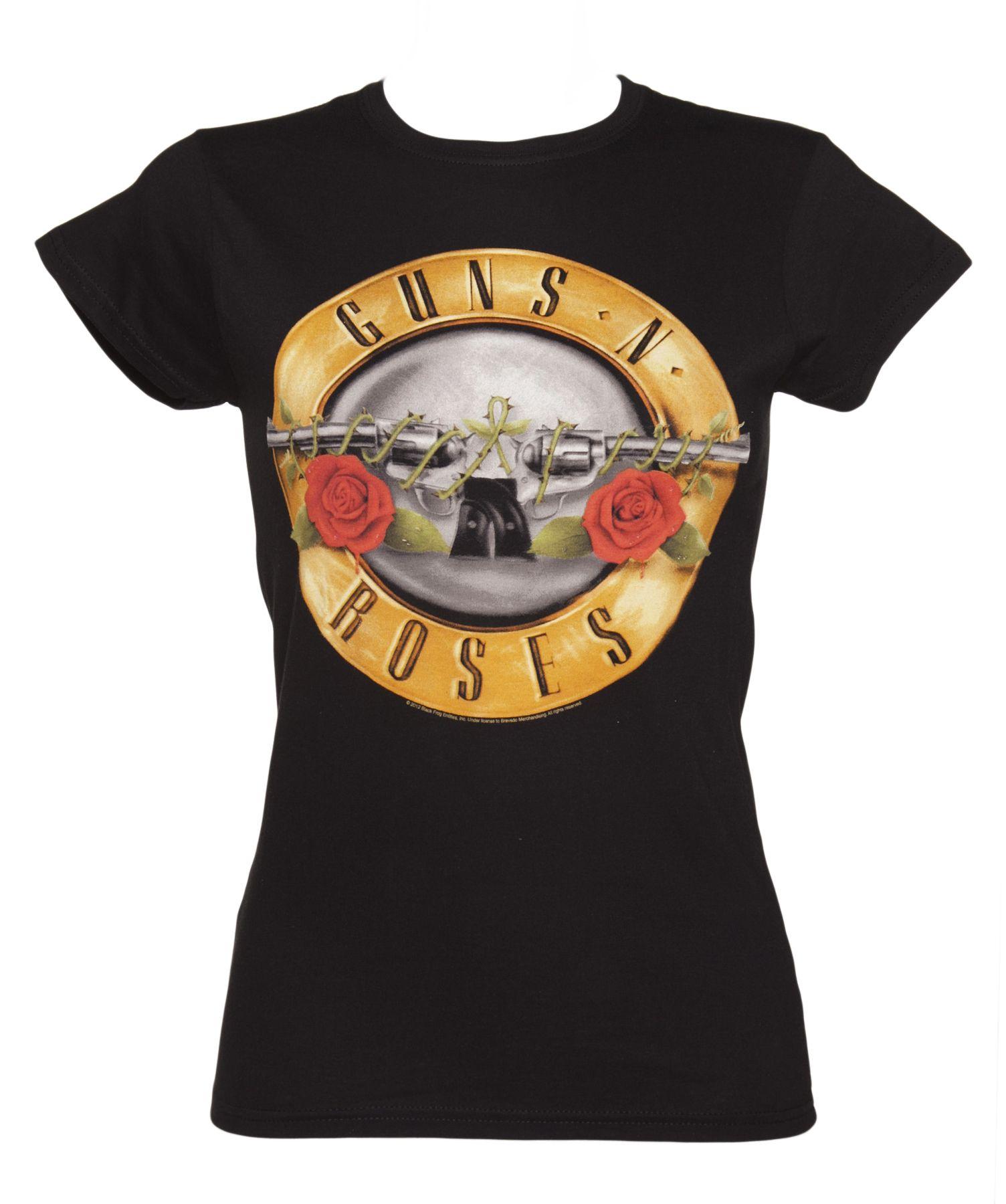 Musik Guns N´roses Herrenmode Classic Bullet Logo T-shirt