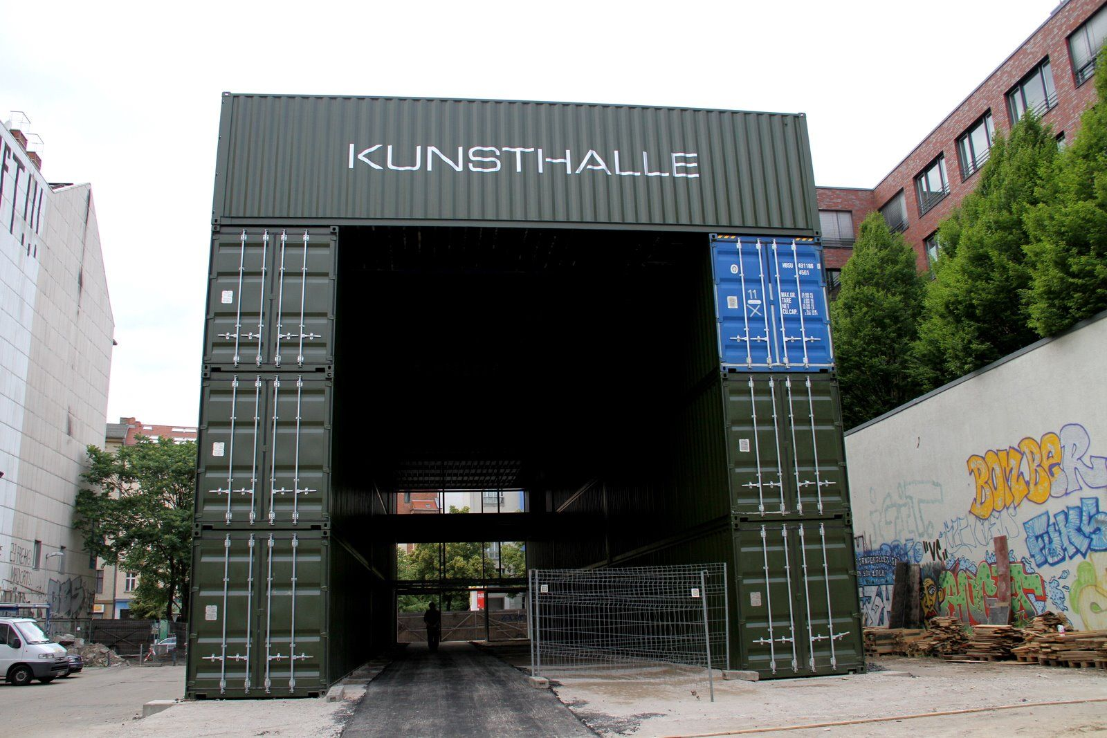 Container Building shipping container homes: platoon, kunsthalle - berlin, germany