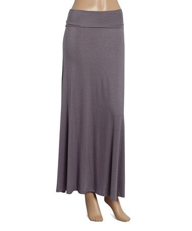 Loving this Charcoal Maxi Skirt on #zulily! #zulilyfinds