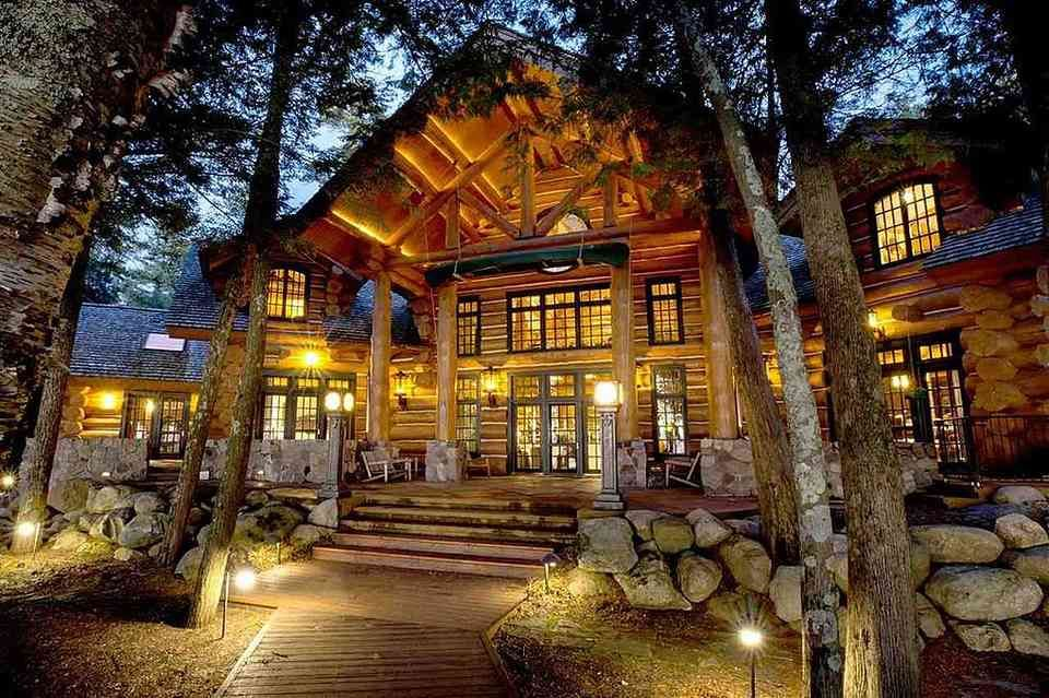 """3 Million """"Log Cabin"""" For Sale In Northern Michigan"""