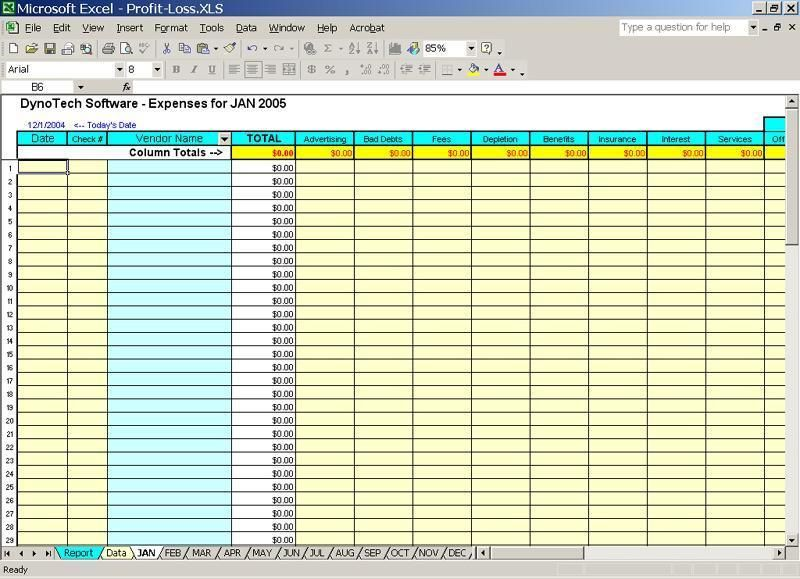 sample business expenses spreadsheet