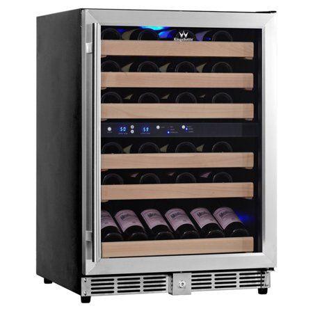 Kingsbottle 46 Bottle 2temp Wine Fridge Silver Wine Fridge Wine Refrigerator Dual Zone Wine Cooler