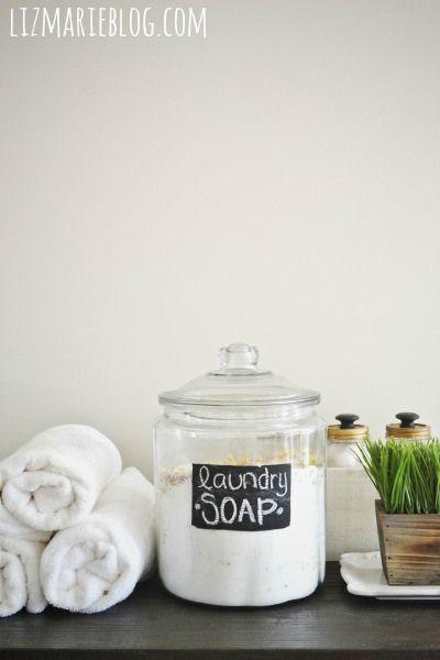 DIY lavandería Jabón y reseña de un año