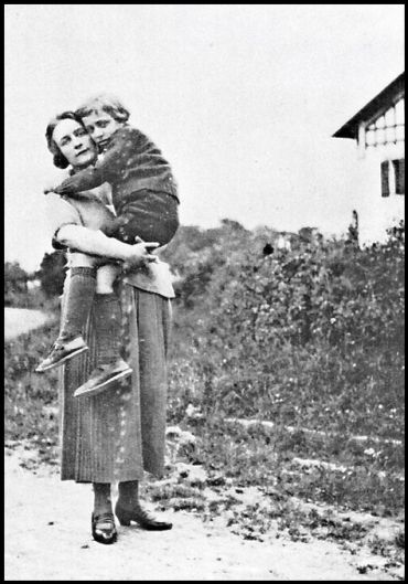 Roland Barthes with his mother