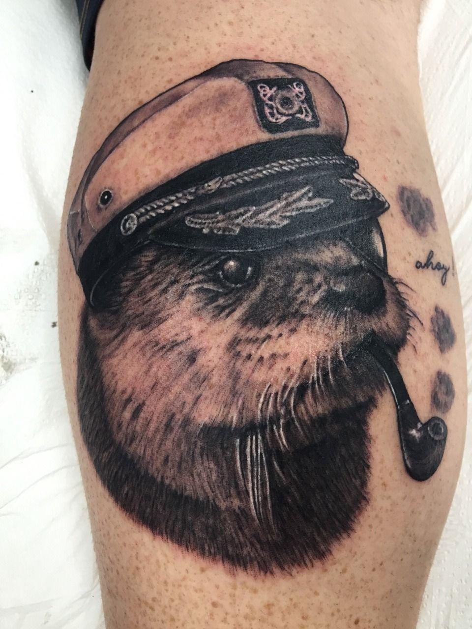 Captain Sea Otter Artist Emily Paul Oceanside Ny Ig Emilypaularts Otter Tattoo Body Art Tattoos Ink Tattoo