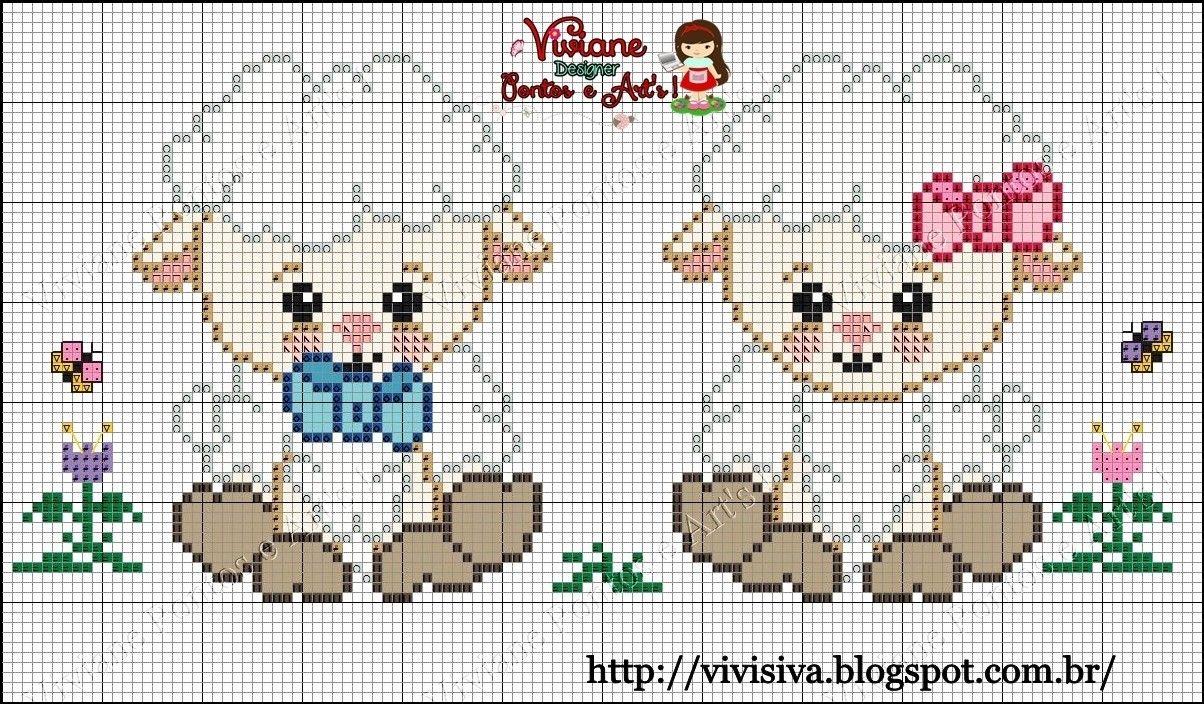 Ovelha | تطريز | Pinterest | Stitch, Cross Stitch and Cross stitch baby