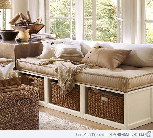 Is It A Couch? Is It A Bed? No, It\'s a Daybed! | Orange cushions ...