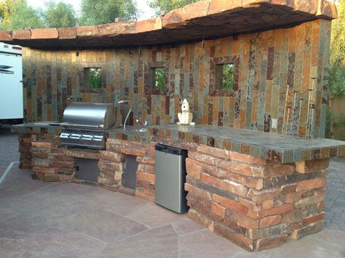 Custom Backyard Designs straight bbq island | custom outdoor kitchens & barbeques