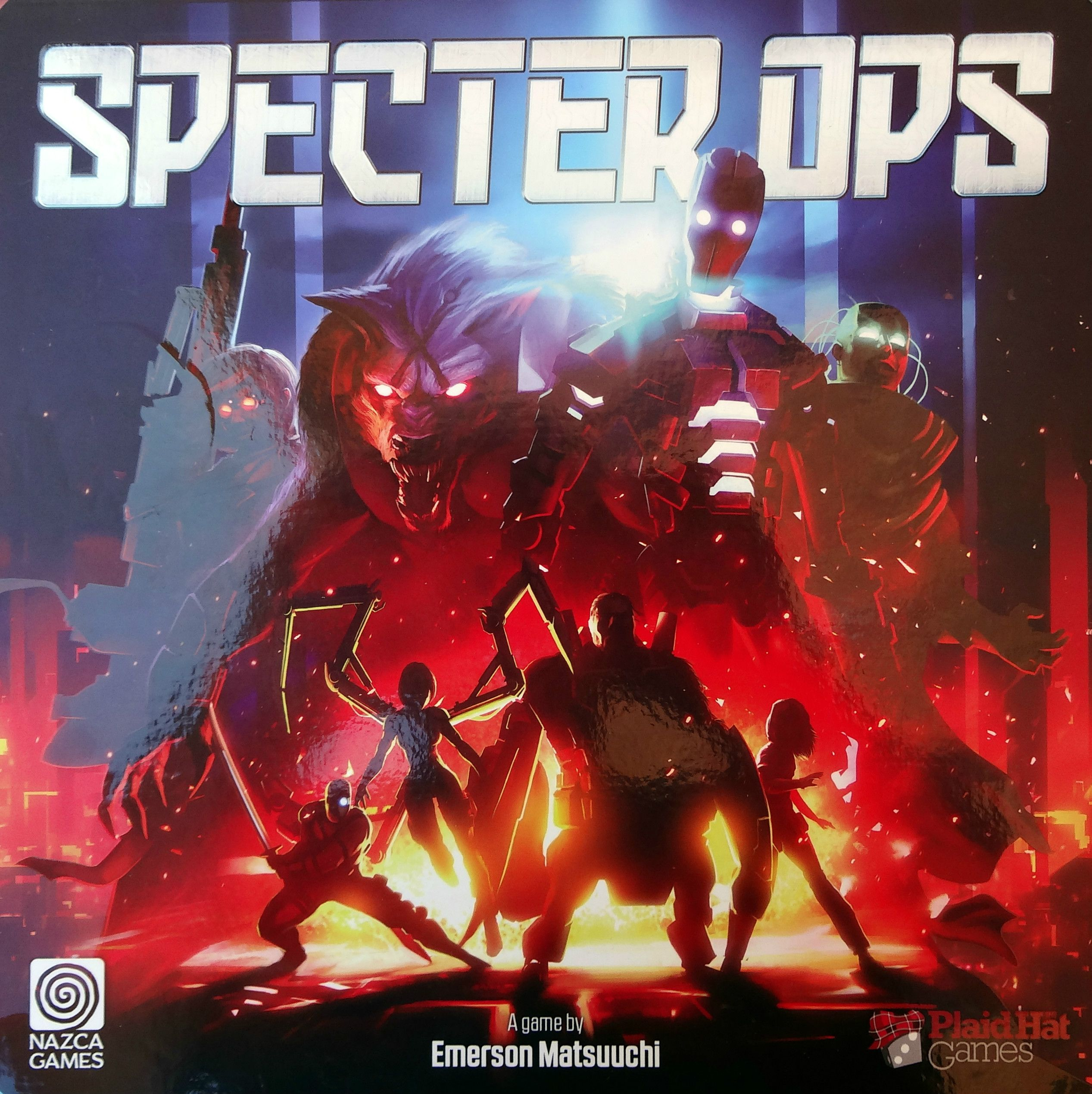 We review Specter Ops, the tactical hidden movement game of cats and mouse where an Agent attempts to accomplish objectives and escape from the Hunters