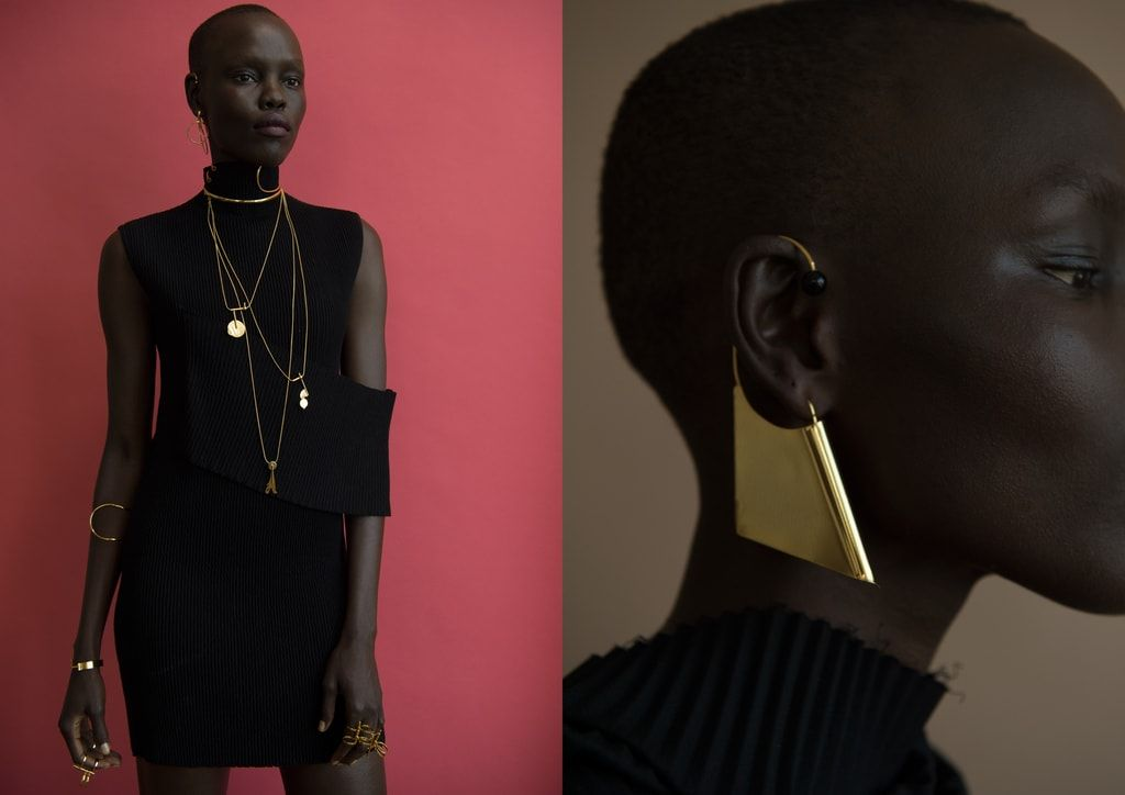 Grace Bol for the Paula Mendoza jewellery lookbook S/S 2017 Arco collection Photographer: Tigre Escobar