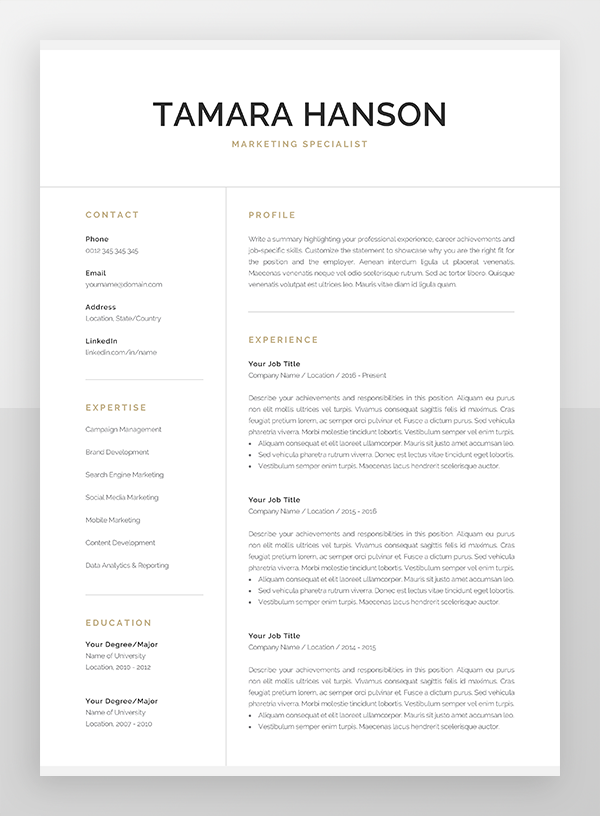 Professional Resume Template for Word & Pages | Modern ... on cover letter for job application, cover letter greeting to unknown, cover letter career change resume samples, cv template download, cover letter format, curriculum vitae download, cover letter word document, cover letter general, cover letters for employment templates, cover letter examples, cover letter home, cover letter help desk, cover letter closing paragraph, cover letter introduction sample, cover letter outline,