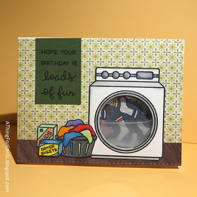 A Water filled Washing Machine Card! A Thing for Cards: Lawn