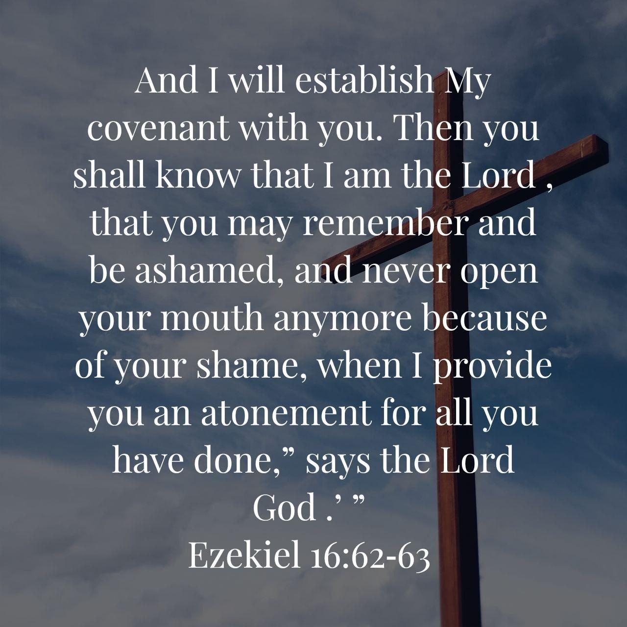 Ezekiel 16 62 63 Memory Verse Scripture Verses Healing Quotes