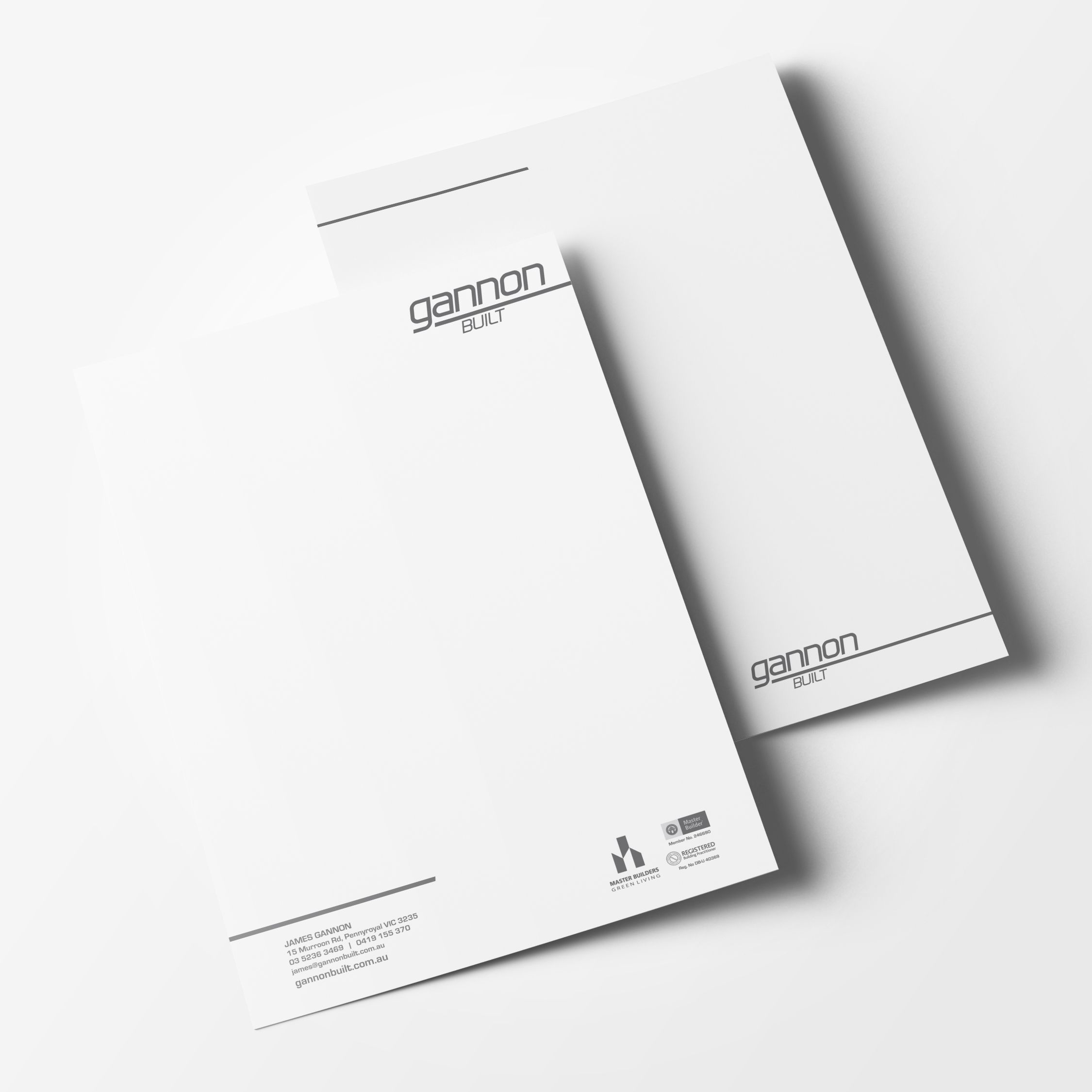 Gannon Built Letterhead Template Design. Martlette Graphic Design ...