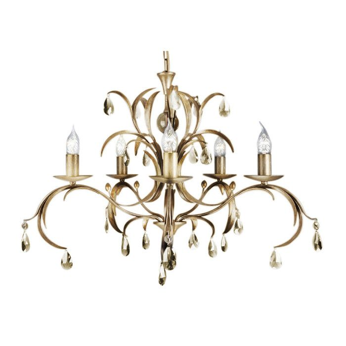 Lily 5 Light Crystal Chandelier | Chandeliers, Crystal chandeliers ...