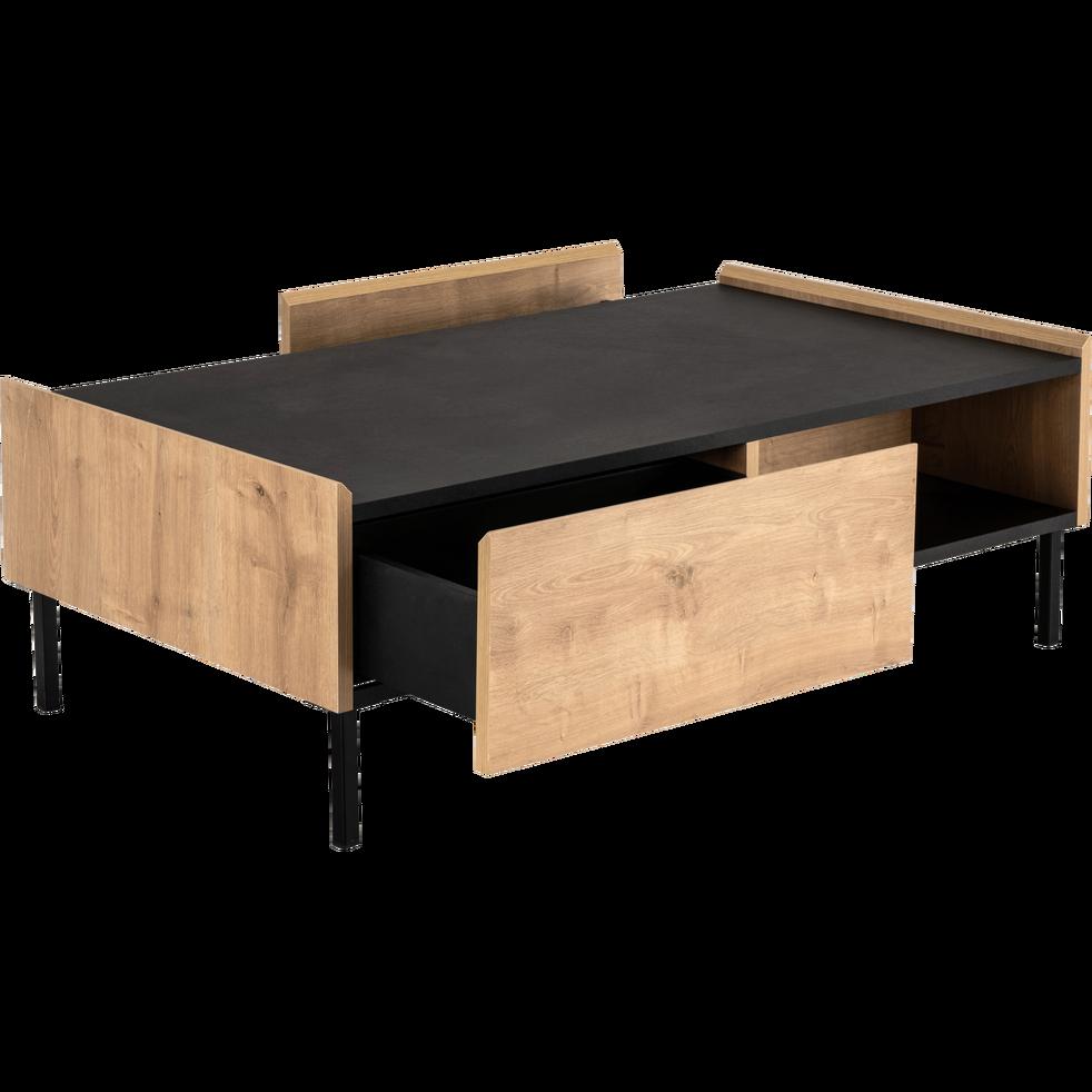 Table Basse 2 Tiroirs Coloris Chene Et Ardoise Aux Reflets Marron Madon Table Basse Table Basse Tiroir Table Basse Table Basse Alinea