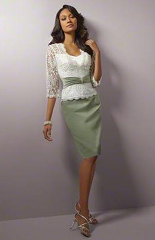 Half Sleeves Knee Length Mother of the Bride Dress Formal Evening Dress Custom