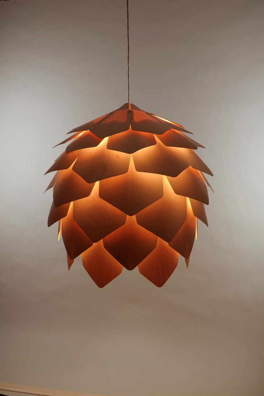 Good Crimean Pinecone Lamp Is A Wooden Pendant Light Designed By Russian  Designer Pavel Eekra. In Designeru0027s Words, U201cCrimean Pinecone Lamp Consists  Of 56 Plates Home Design Ideas