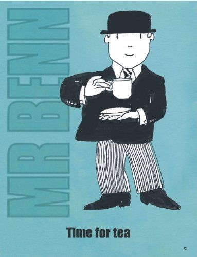 nice S2674 TIME FOR TEA MR BENN 1970'S 1980'S CARTOON TV SHOW METAL WALL ADVERTISING SIGN PLAQUE