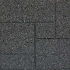 18x18 Inch Envirotile Cobblestone Grey Home Depot Canada Rubber Paver Grey Pavers Cobblestone Pavers