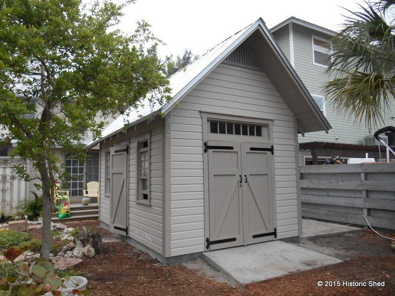 Two 10 X16 Gable Sheds With Transoms Historic Shed In 2020 Backyard Storage Sheds Backyard Sheds Building A Shed