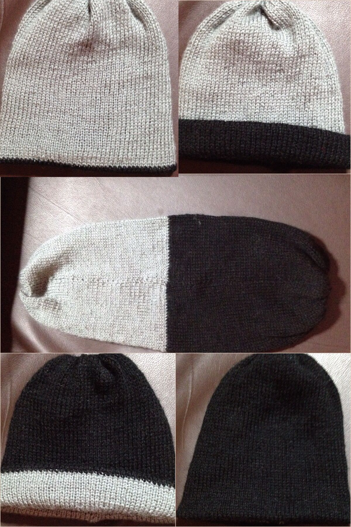 My 2 needle double layered 4 way Beanie hat 7b44a9009077