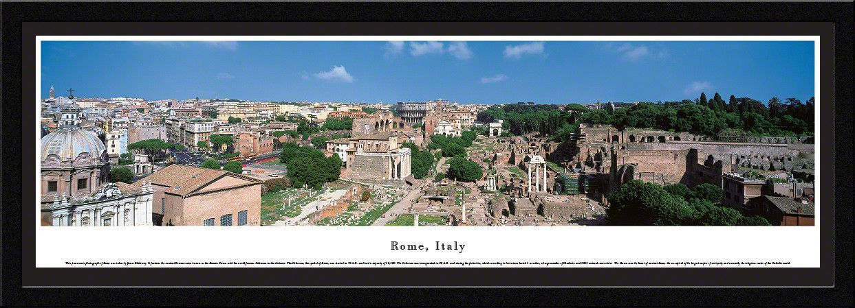 Rome Skyline Panoramic Picture Framed, Italy | Pinterest | Panoramic ...