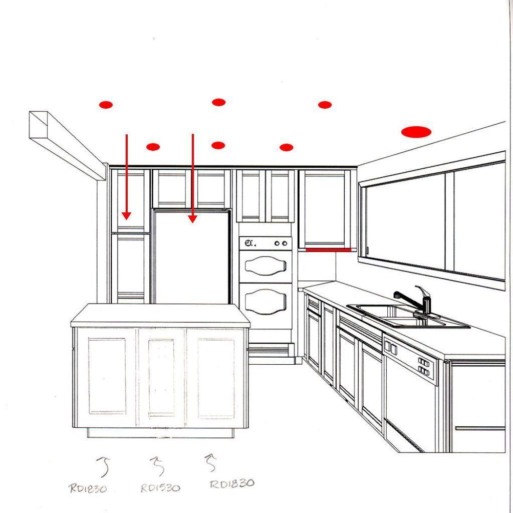 Kitchen Ceiling Lights Layout: Recessed Lighting Kitchen Layout - Google Search