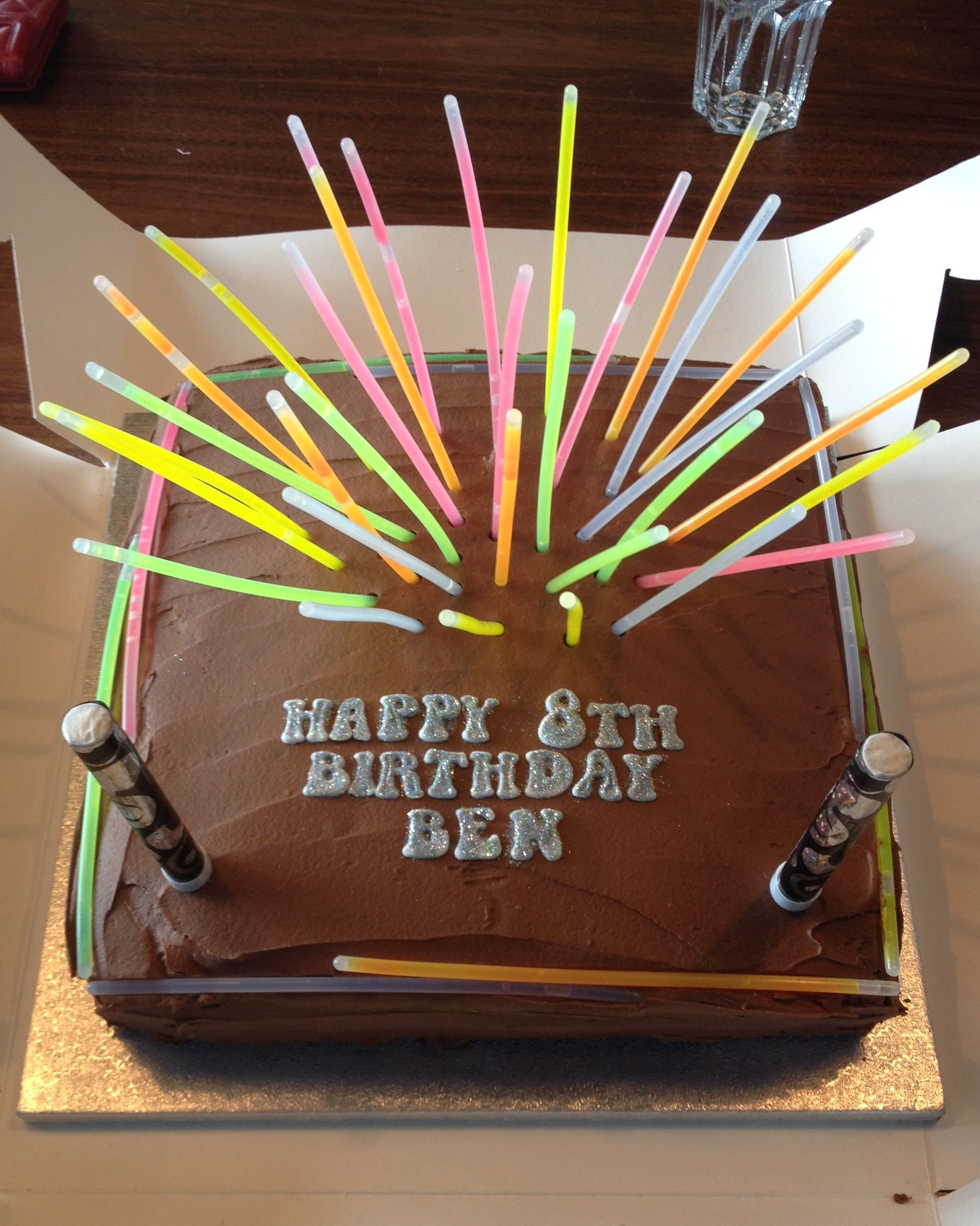 Laser Tag Birthday Cake Glowsticks Pinteres