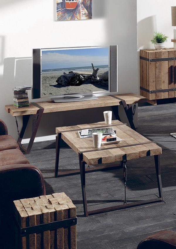 Decouvrez Nos Collections De Meuble Au Style Industriel Mobilier De Salon Idees De Meubles Meuble Bois Brut
