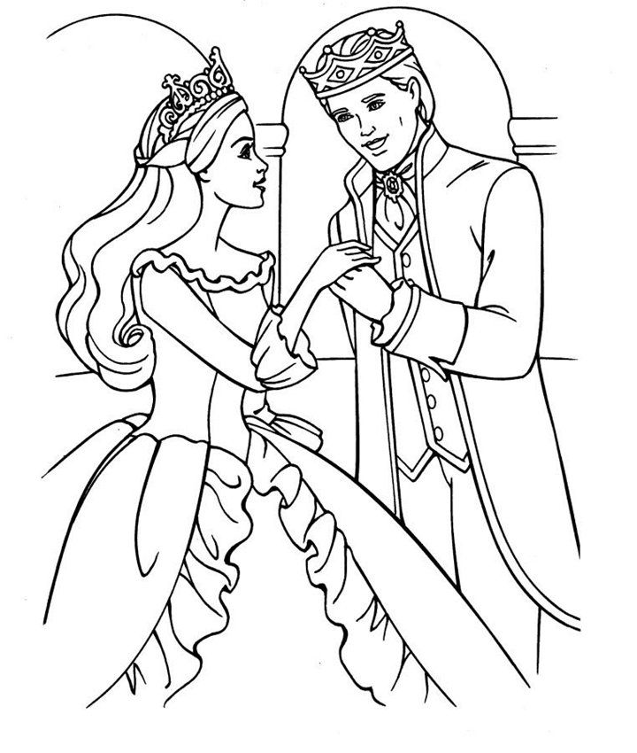 stunning barbie coloring pages