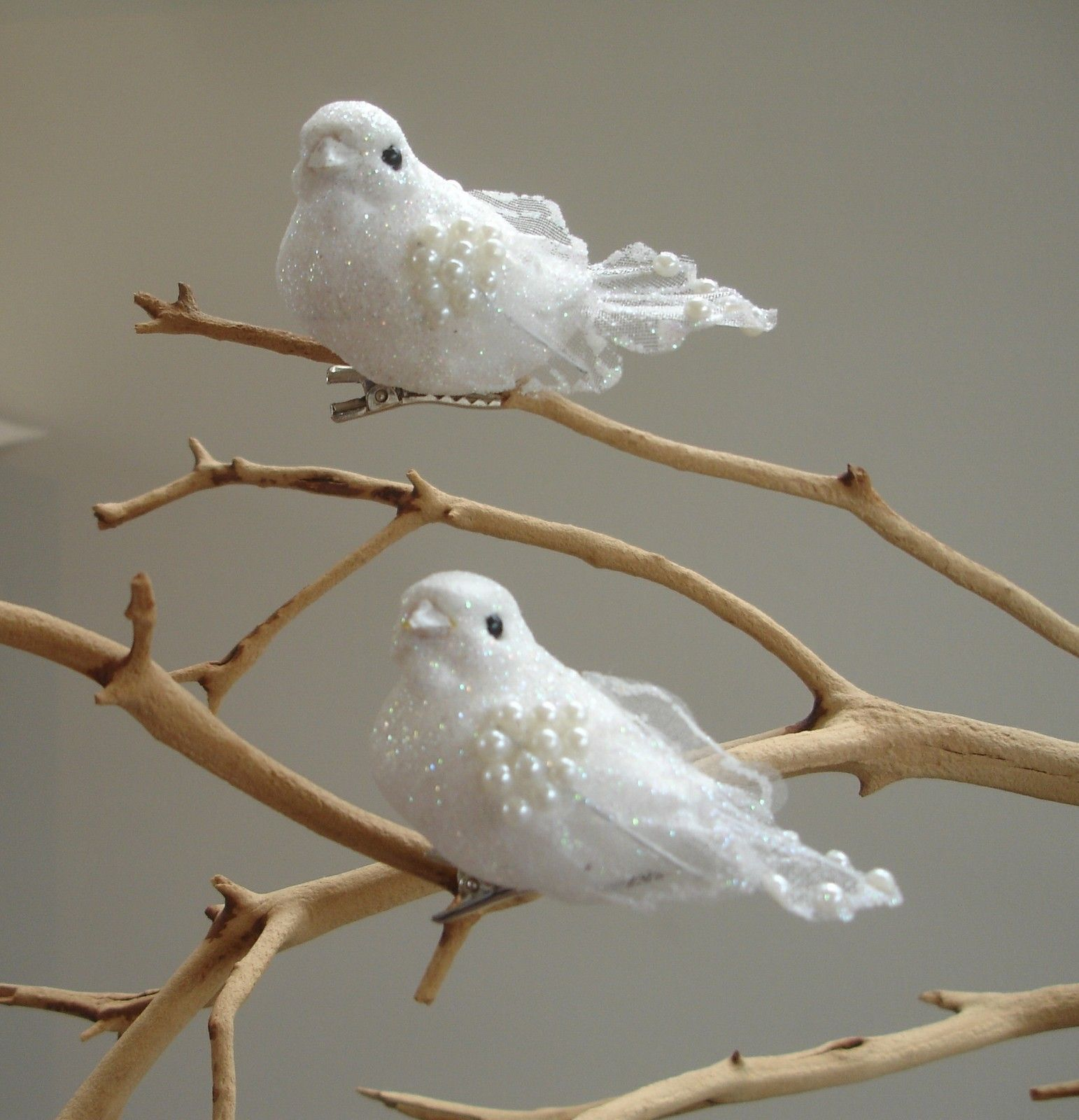 White dove ornament - Two Turtle Doves Fake Turtle Doves Inside A Small Bird Cage