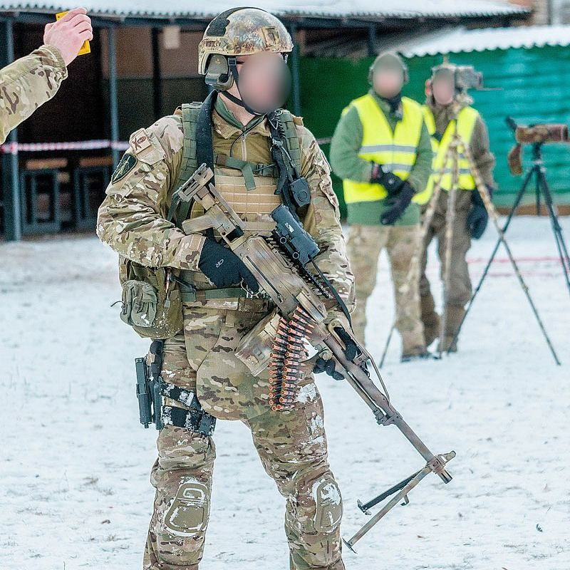 Spetsnaz FSB Alfa Operator During A Shooting Competition