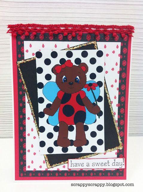 Scrappy Scrappy: Ladybug bear :)