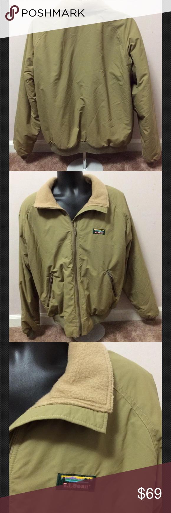 S s ll bean warm up jacket coat ski fleece usa classic coat in a