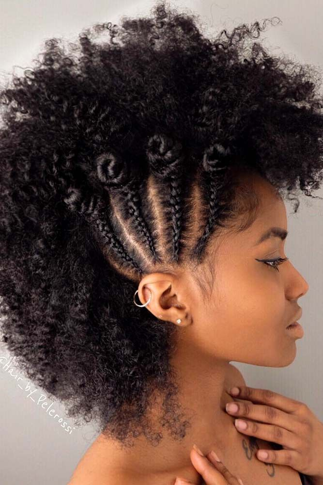 24 Cool And Daring Faux Hawk Hairstyles For Women Natural Hair Styles Natural Hair Styles Easy Hair Styles