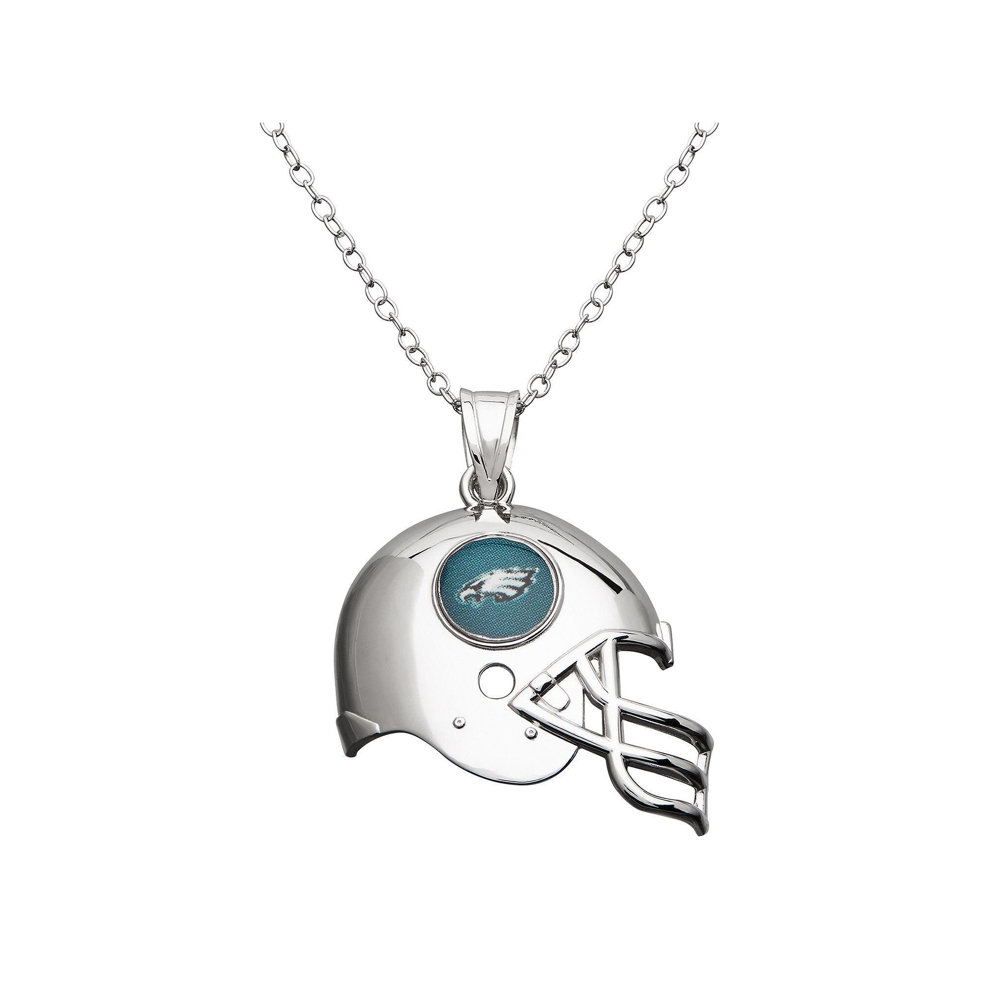 Philadelphia Eagles Sterling Silver Helmet Pendant Necklace d740f5055