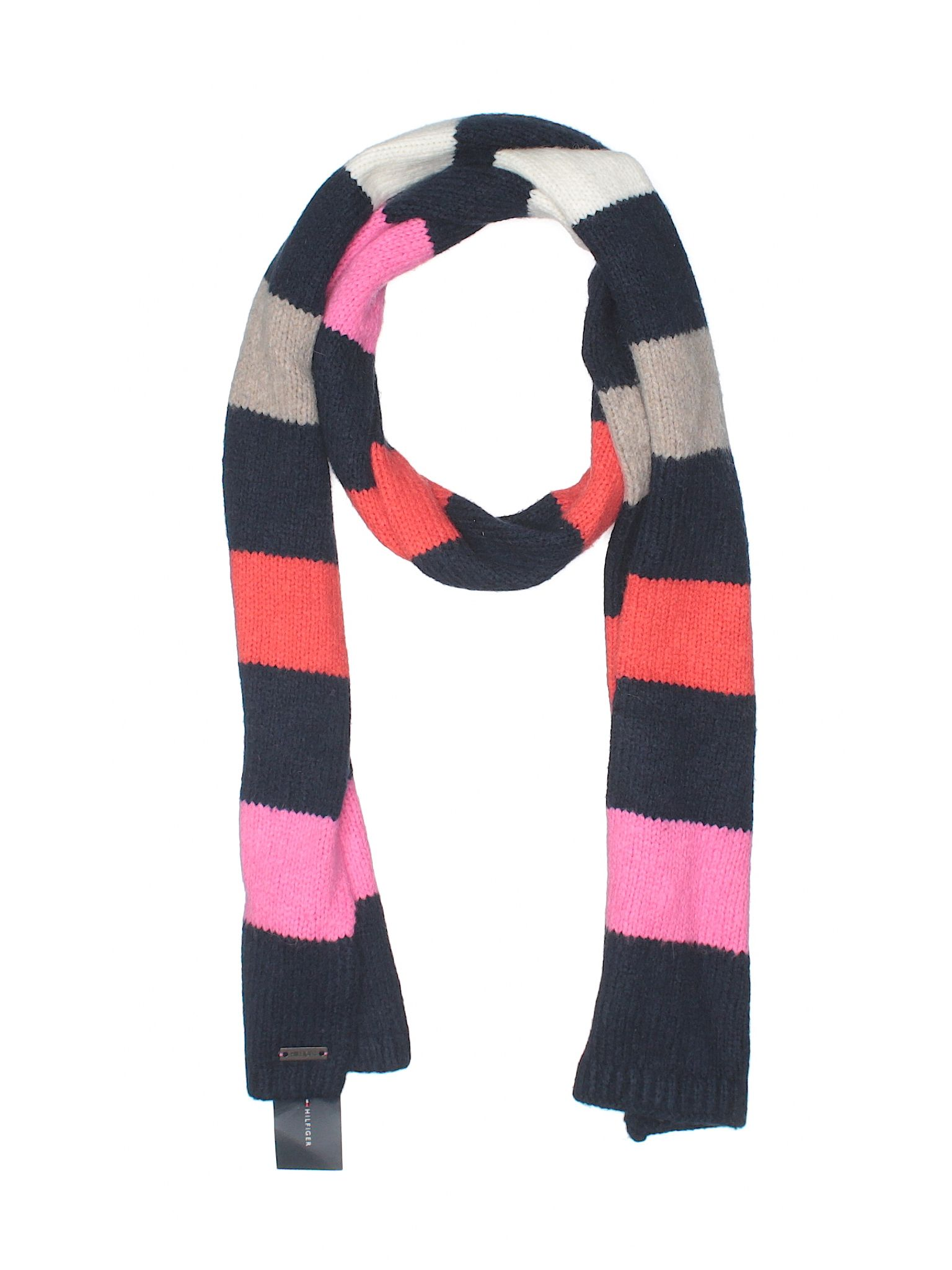 Tommy Hilfiger Scarf Size 000 Navy Blue Womens Accessories