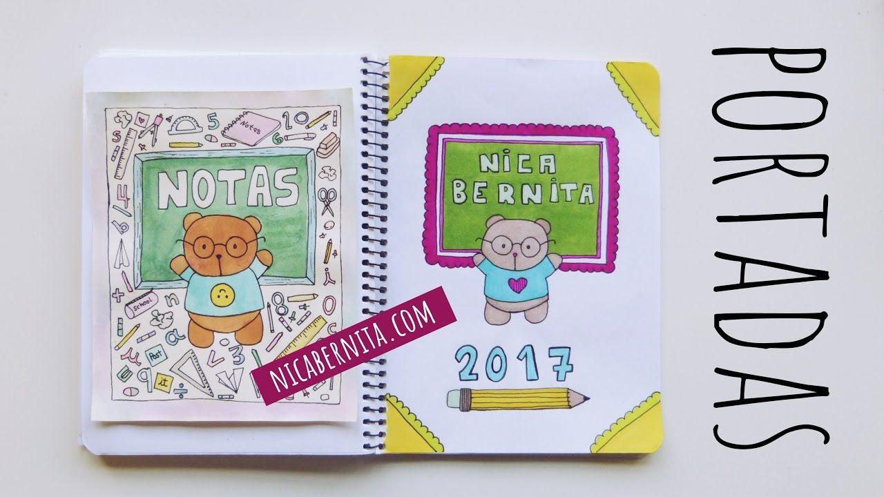 Portadas Para Cuadernos Decora Tus Libretas Con Dibujos Kawaii Oso