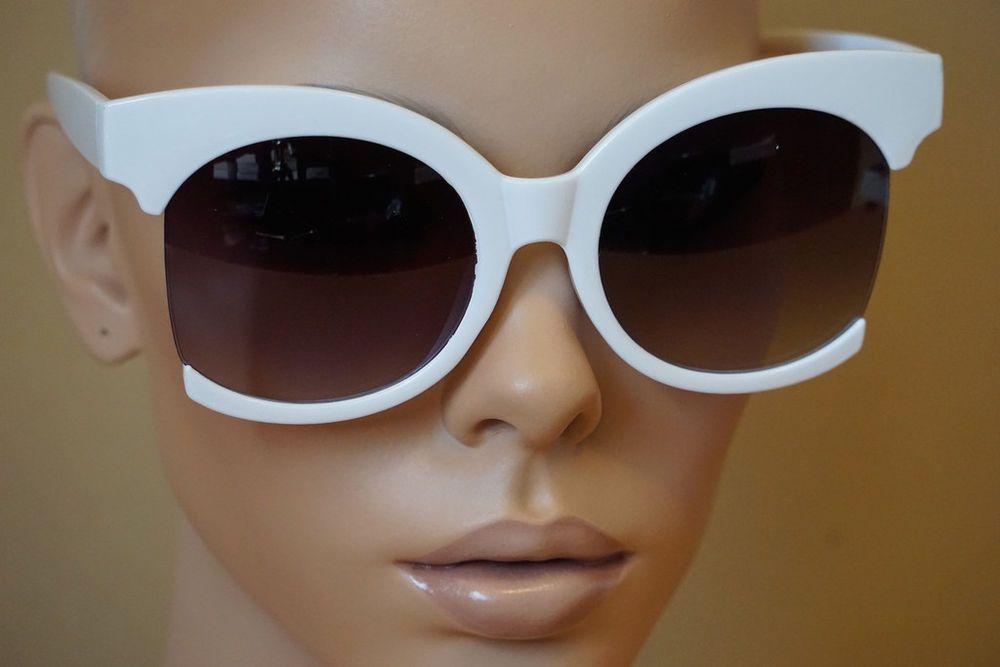 dc09f28325ef EXAGGERATED OVERSIZE VINTAGE 60s RETRO Style SUNGLASSES Huge White Fashion  Frame  SPEXXEyewear  OversizeVintageRetroStyle