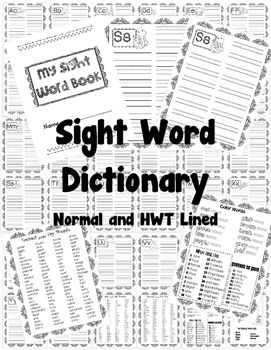 Sight Word Dictionary (Handwriting Without Tears and