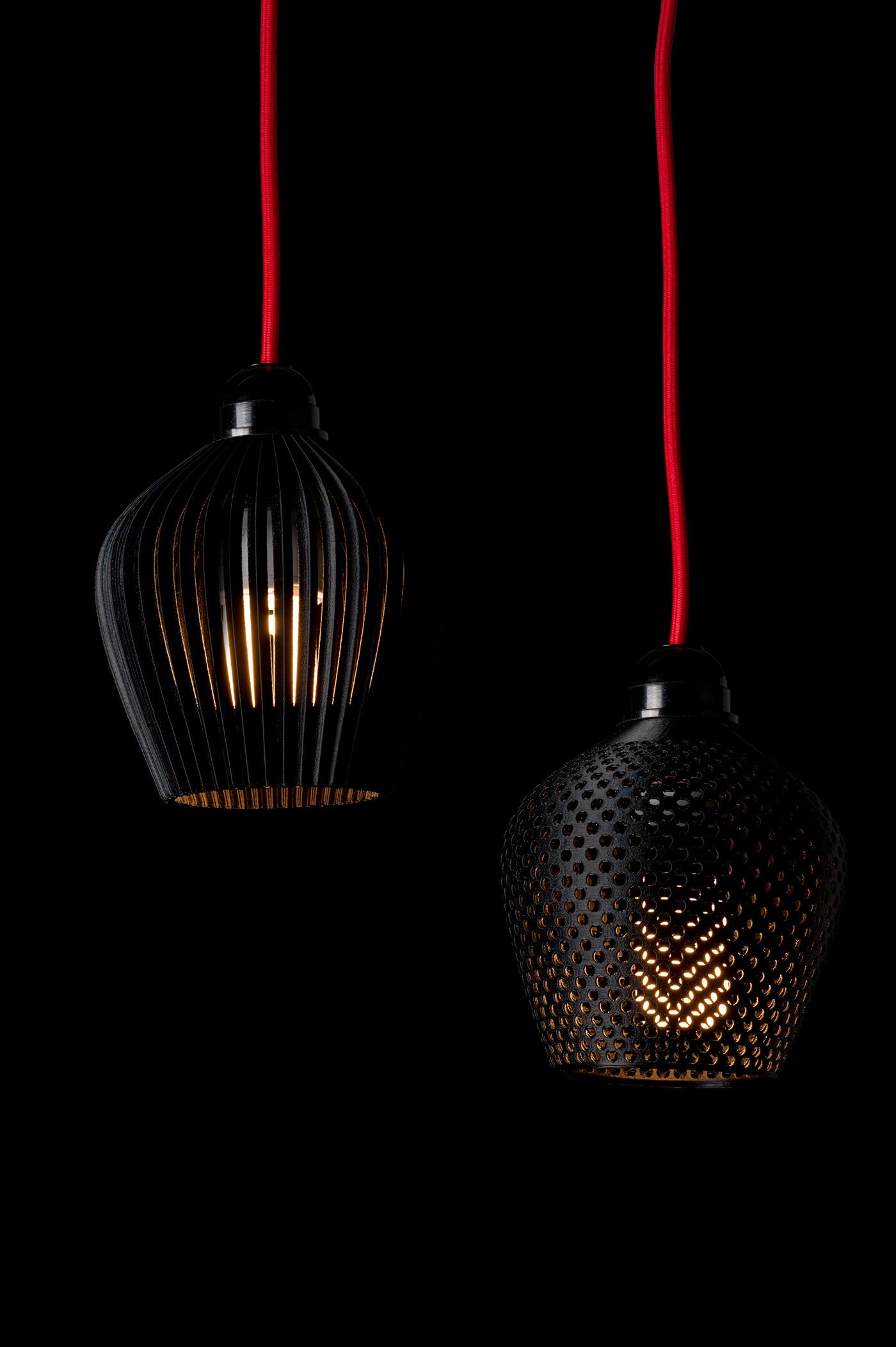 3d Printed Lamp Shade Collection On Behance In 2020 3d Printed Objects 3d Printing Machine 3d Printed Furniture