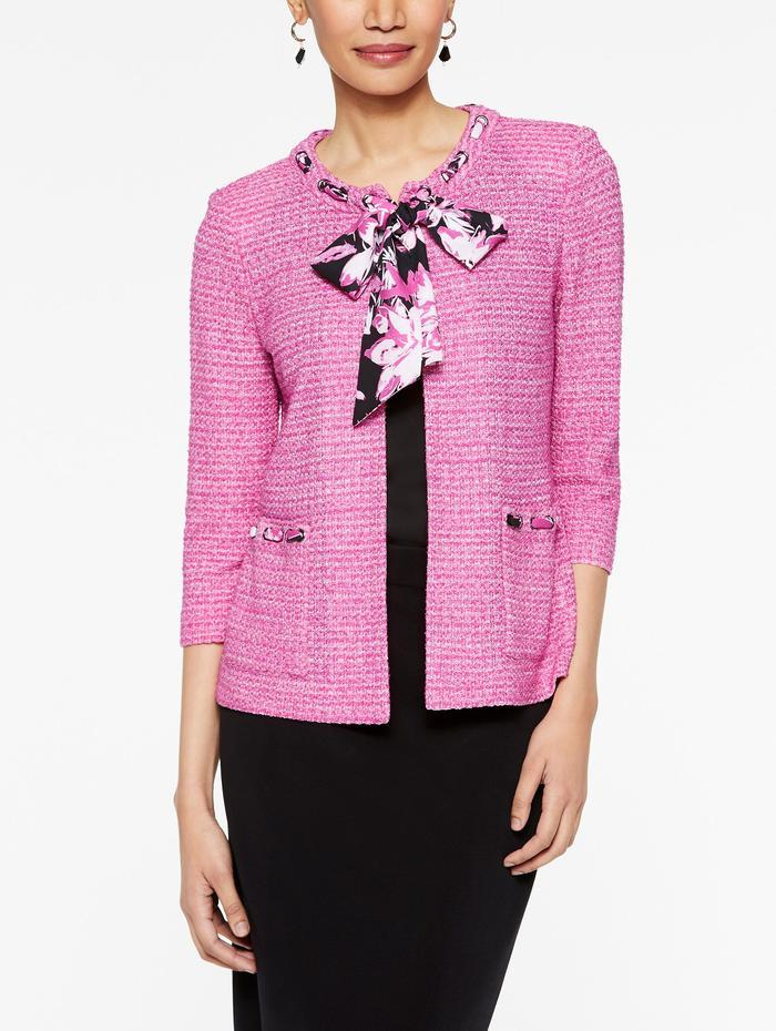 Designer Knitwear Sale Misook Knitwear Sale Printed Ties Elegant Jacket