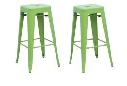 Green Tolix Style Bar Stools - Modern Furniture and Lighting