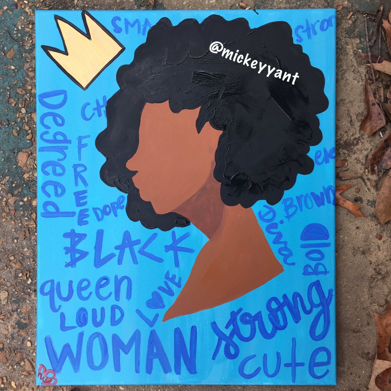 Black Is Beautiful Black Girl Magic Canvas Painting Black Art Painting Canvas Painting Diy Painting Of Girl