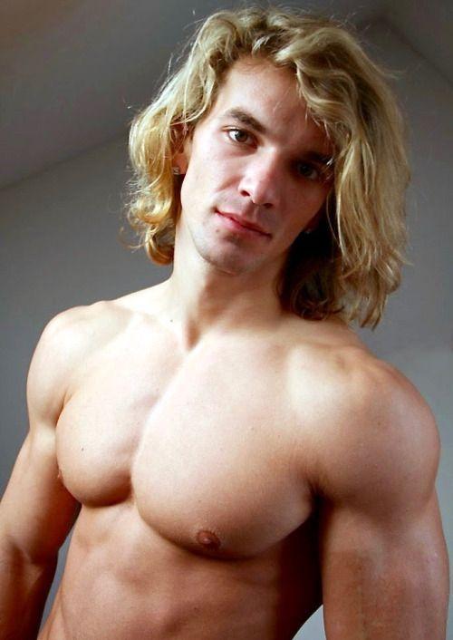 Gay muscle men long hair