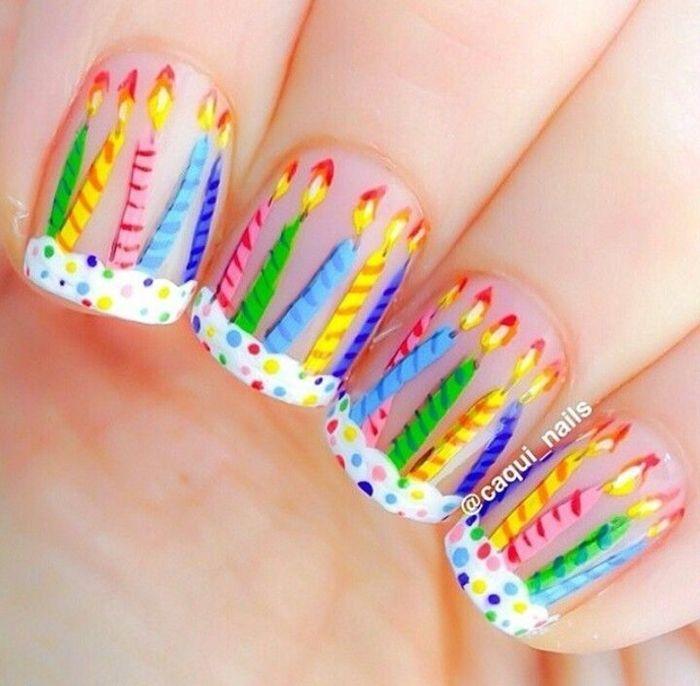Birthday Mani Nail Ideas Pinterest Nails Nail Art And