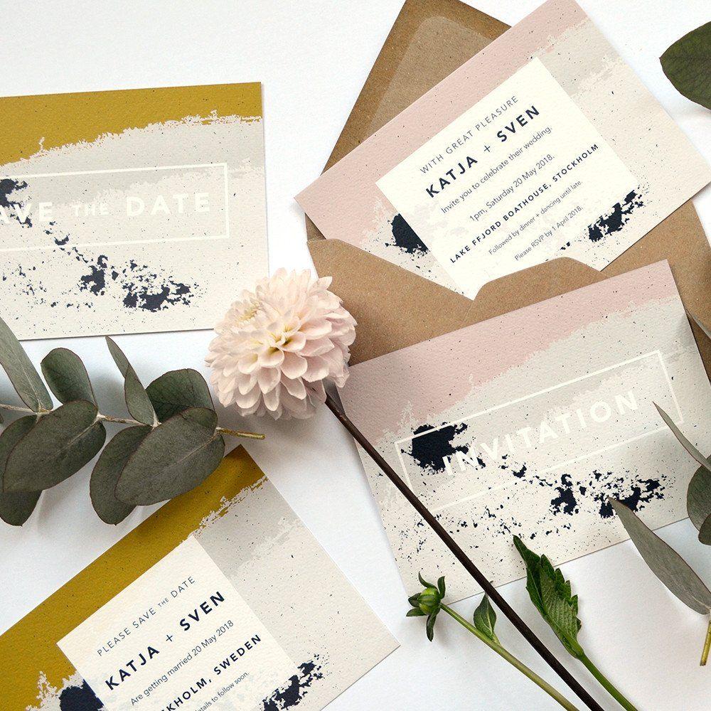 sample wording for rsvp wedding invitations%0A Scandi   Modern Wedding Invitation Sample Pack